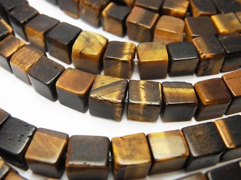 1strand $7.79! Yellow Tiger Eye AA + Cube 6x6x6mm 1strand (aprx.15inch / 37cm)
