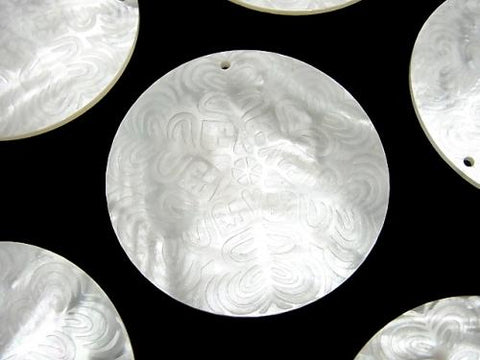 High Quality White Shell Carved Coin 40x40x2mm 1pc $8.79!