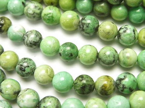 Mongolia Variscite Round 6mm half or 1strand (aprx.15inch / 38cm)