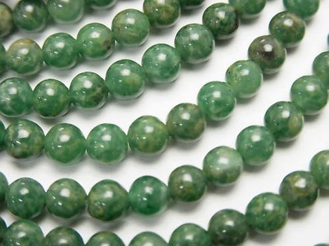 1strand $5.79! African Natural Green Quartz Round 4mm 1strand (aprx.15inch / 38cm)