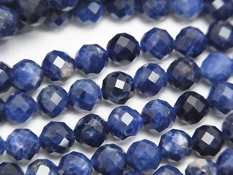 Diamond Cut!  1strand $11.79! Sodalite AAA- Faceted Round 6mm  1strand (aprx.15inch/37cm)