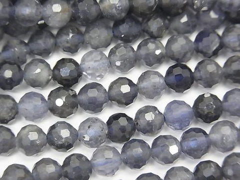 High Quality!  1strand $12.99! Iolite AA+ Faceted Round 6mm  1strand (aprx.15inch/37cm)