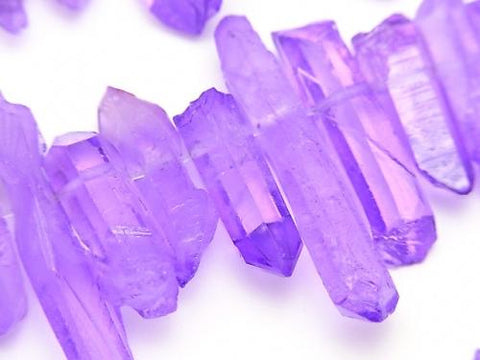 1strand $11.79! Crystal Natural Point cut purple color coating 1strand (aprx.15inch / 38cm)