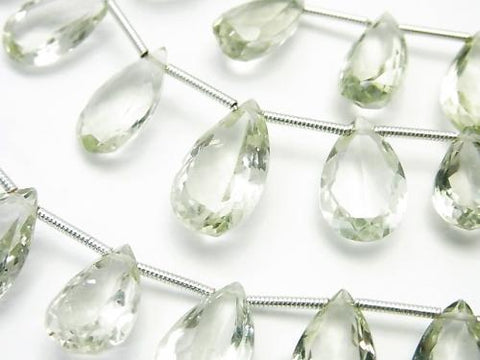 1strand $39.99! High Quality Green Amethyst AAA Pear shape Faceted 1strand (aprx.6inch / 16cm)