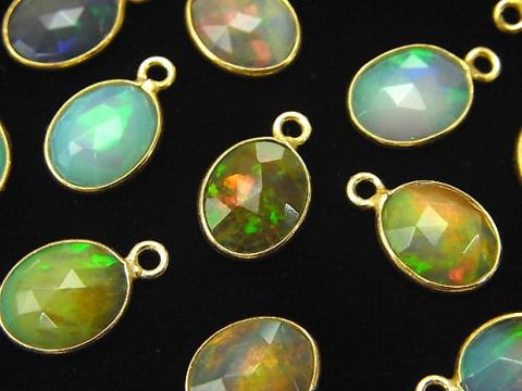 High Quality Ethiopia Opal AAA Bezel Setting Rose Cut Oval 10x8mm 18KGP 3pcs $19.99!