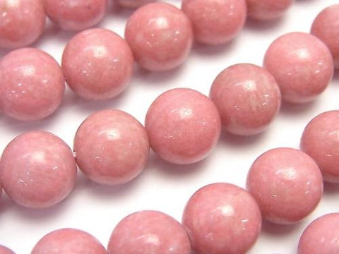 Norway Thulite Round 10mm 1 / 4-1strand (aprx.15inch / 37cm)