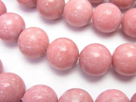 Norway Thulite Round 12mm 1 / 4-1strand (aprx.15inch / 37cm)