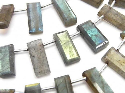 1strand $15.99Labradorite AA++ Faceted Rectangle  1strand (aprx.6inch/16cm)