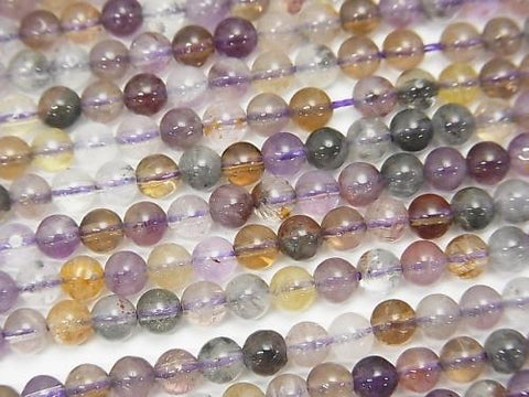 1strand $7.79! Cacoxenite in Quartz Round 4mm Amethyst Color 1strand (aprx.15inch / 38cm)