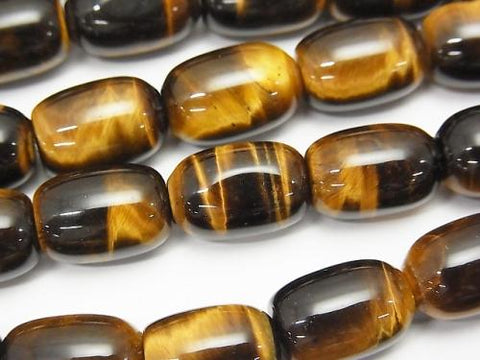 Yellow Tiger Eye AAA Rice (Tube) 14x10x10mm half or 1strand (aprx.15inch / 37cm)