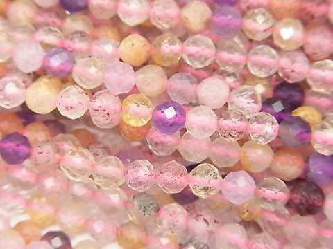 Diamond Cut!  1strand $5.79! Mixed Stone AA++ Faceted Round 4mm  1strand (aprx.15inch/37cm)