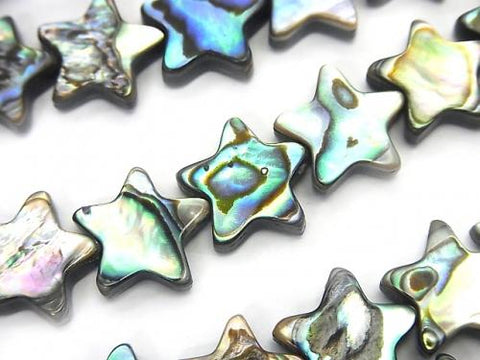 Abalone Shell Star 12x12x3mm half or 1strand (aprx.13inch / 32cm)