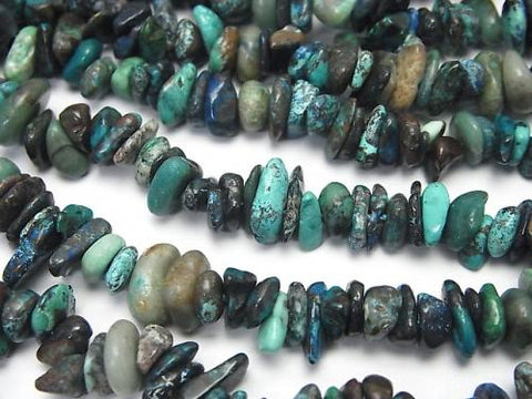 1strand $6.79! Chrysocolla AA Chips (Small Nugget ) 1strand (aprx.33inch/82cm)