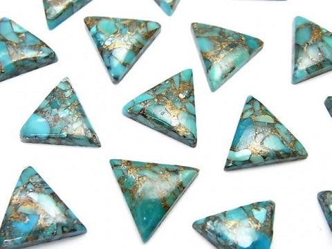 Blue Copper Turquoise AAA Triangle Cabochon 12x12mm 4pcs $8.79!