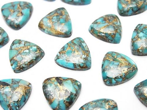 Blue Copper Turquoise AAA Triangle Cabochon 12x12mm 4pcs $9.79!