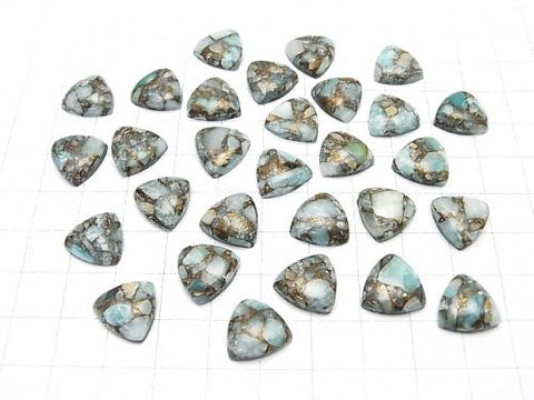 Copper Amazonite AAA Triangle Cabochon 12x12mm 4pcs $8.79!