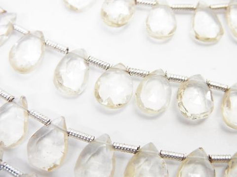 1strand $19.99High Quality Scapolite AAA- Pear shape Faceted Briolette  1strand (aprx.7inch/18cm)