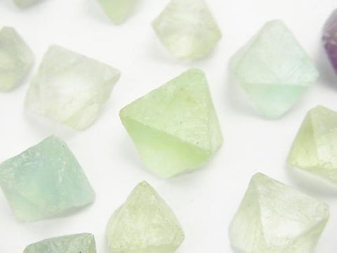 Multicolor Fluorite Undrilled 8Faceted Body 11-18mm 100g $5.79
