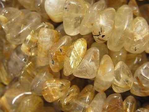 1strand $12.99Rutilated Quartz AA++ Small Nugget (Chips ) 1strand (aprx.35inch/88cm)