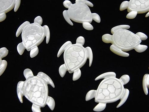 High Quality White Shell AAA Turtle Shape 17x13x2mm 2pcs $4.79!