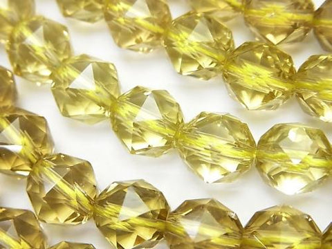 High Quality! High Quality Lemon Quartz AAA Star Faceted Round 10mm 1/4 or strand (aprx.15inch / 38cm)