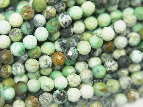 High Quality!  1strand $9.79! Variscite AA++ Faceted Round 4mm  1strand (aprx.15inch/38cm)