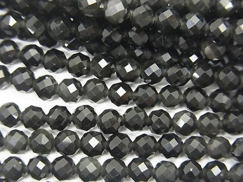 1strand $5.79! High Quality! Rainbow Obsidian AAA 32Faceted Round 4mm 1strand (aprx.15inch / 38cm)