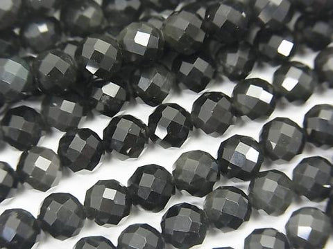 1strand $7.79! High Quality! Rainbow Obsidian AAA 64Faceted Round 6mm 1strand (aprx.15inch / 37cm)