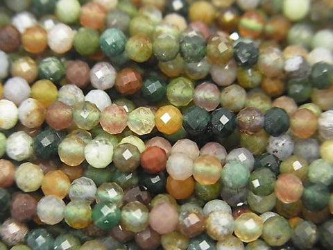 High Quality! 1strand $4.79! Indian Agate Faceted Round 3mm 1strand (aprx.15inch / 38cm)