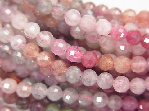 High Quality! Multicolor Spinel AA ++ Mirror Faceted Round 4mm half or 1strand (aprx.15inch / 38cm)