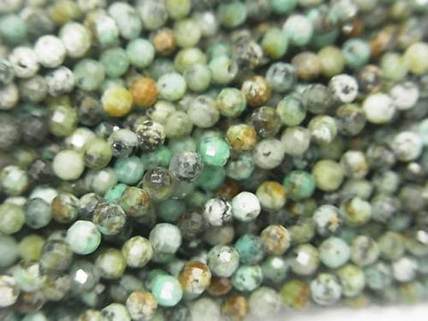 High Quality!  1strand $5.79! African Turquoise  Faceted Round 3mm  1strand (aprx.15inch/38cm)