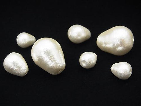 Made in Japan! Cotton Pearl Beads White Drop 20x15mm 4pcs $2.79