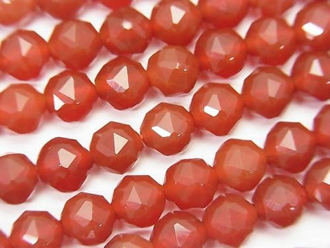 High Quality! 1strand $7.79! Red Agate AAA Star Faceted Round 6mm 1strand (aprx.15inch / 37cm)