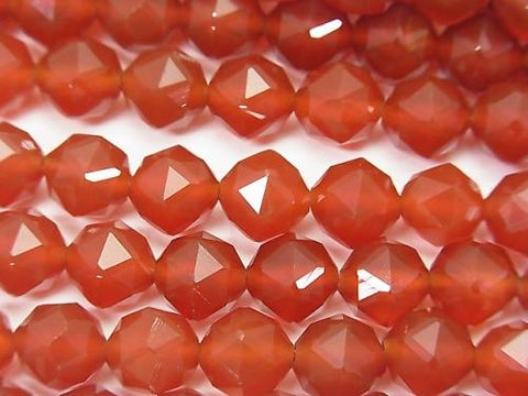 High Quality! 1strand $8.79! Red Agate AAA Star Faceted Round 8mm 1strand (aprx.15inch / 37cm)