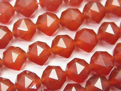 High Quality! 1strand $9.79! Red Agate AAA Star Faceted Round 10mm 1strand (aprx.15inch / 37cm)