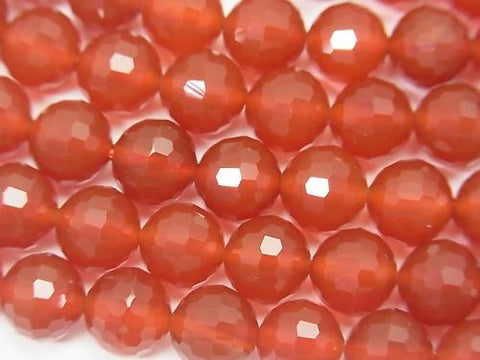 High quality! 1strand $8.79! Red Agate AAA 128Faceted Round 8mm 1strand (aprx.15inch / 37cm)