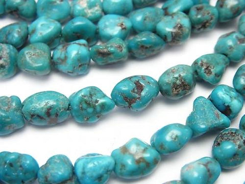 Blue Turquoise AA + Nugget half or 1strand (aprx.15inch / 37cm)