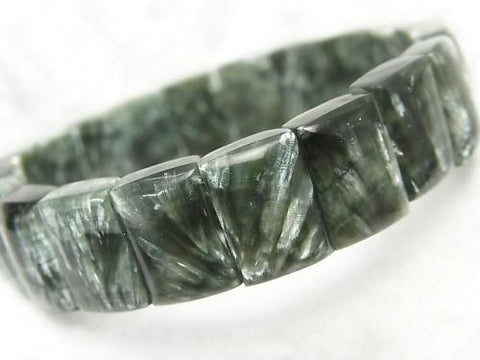 1strand $49.99! Seraphinite AAA 2 Hole Rectangle 14x10x5mm 1strand (Bracelet)