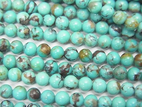 Turquoise AA++ Round 4mm half or 1strand (aprx.15inch/38cm)