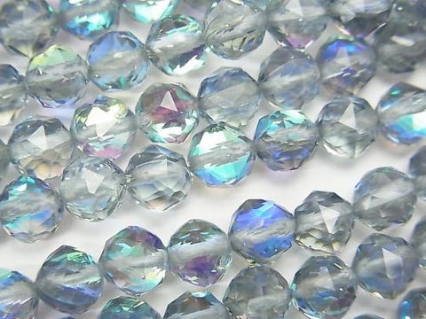 High Quality! 1strand $7.79! Blue Luna Flash Star Faceted Round 6mm 1strand (aprx.15inch / 37cm)