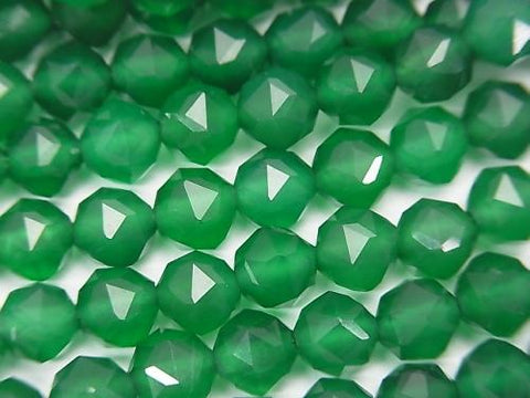 High Quality! 1strand $8.79! Green Onyx AAA Star Faceted Round 6mm 1strand (aprx.15inch / 37cm)