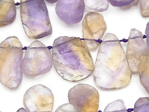 Ametrine AAA- Rough Rock Nugget Top Side Drilled Hole half or 1strand (aprx.15inch / 38cm)