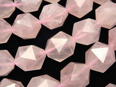 Rose Quartz AA++ 20Faceted Round 14mm half or 1strand (aprx.15inch/36cm)