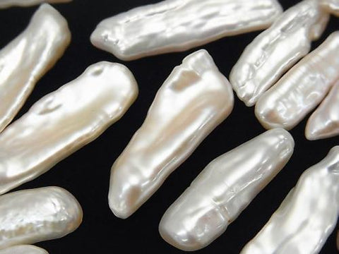 Fresh Water Pearl Keshi Pearl AA ++ Undrilled Baroque 22-34mm White 10pcs $12.99!