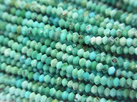 High Quality!  1strand $12.99! Turquoise AA++ Faceted Button Roundel 2x2x1.2mm 1strand (aprx.15inch/38cm)