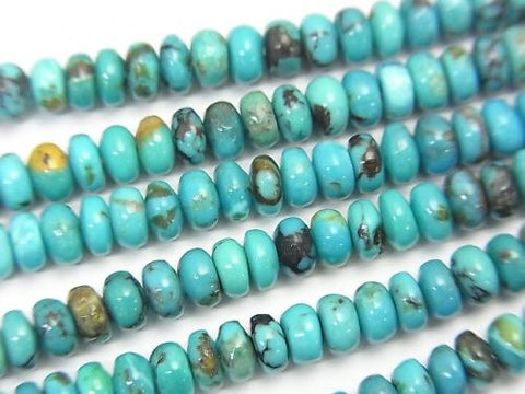 Turquoise AA++ Roundel 4x4x2mm half or 1strand (aprx.15inch/38cm)