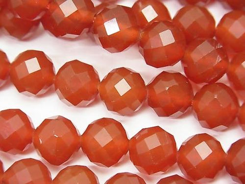 High quality! 1strand $9.79! Red Agate AAA 64Faceted Round 10mm 1strand (aprx.15inch / 37cm)