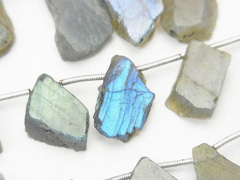 1strand $11.79! Labradorite AA Roughs Faceted Rice 1strand (aprx.7inch / 18cm)
