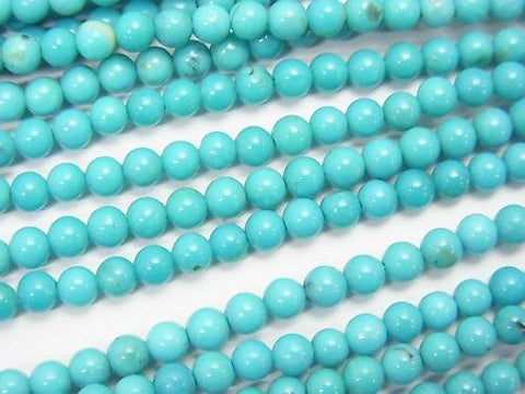 Blue Turquoise AAA- Round 3mm half or 1strand (aprx.15inch / 38cm)