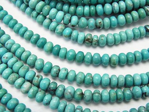 Turquoise AA++ Roundel 4x4x3mm half or 1strand (aprx.15inch/38cm)